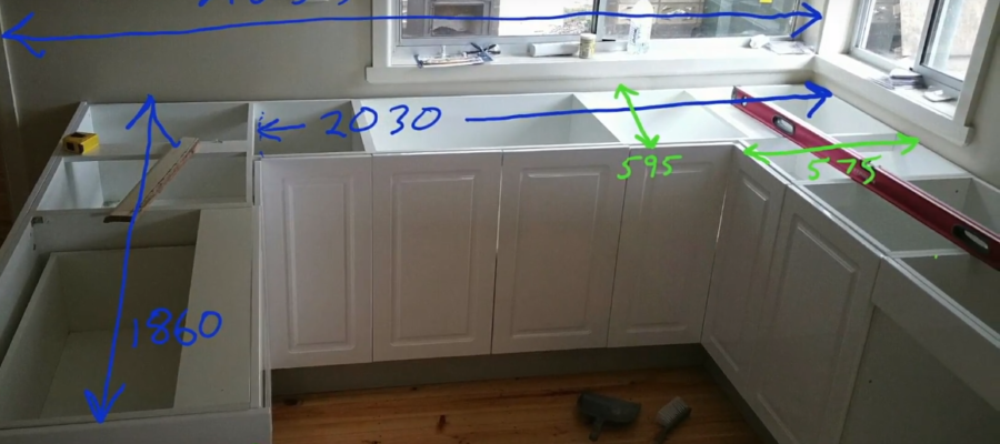 DIY Kitchen Renovation Project During Execution