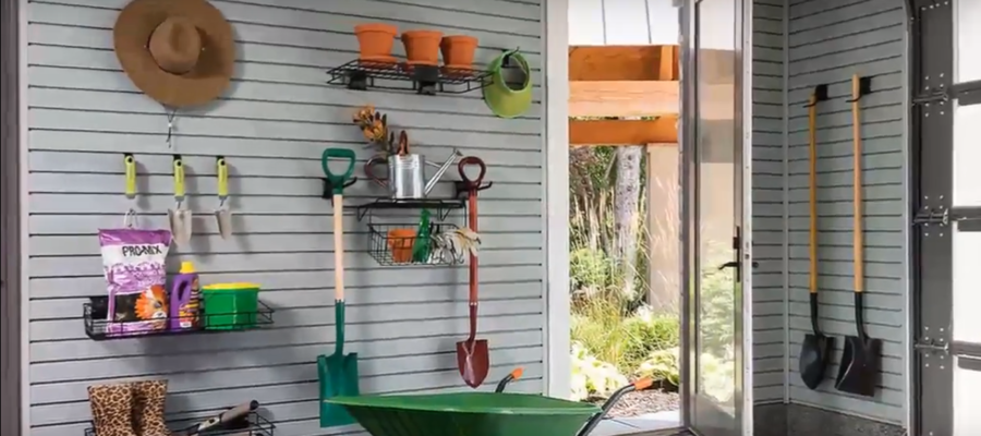 Storage Ideas For Rakes And Shovels; Home Improvement DIY Projects